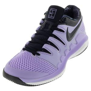 Juniors` Vapor X Tennis Shoes Purple Agate and Black