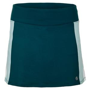 Women`s Retro 13 Inch Tennis Skort Deep Green