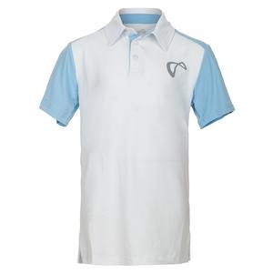 Boys` Break Tennis Polo White and Arctic
