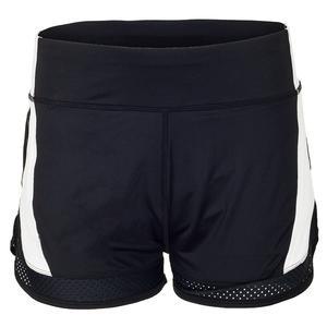 Women`s Esmeralda 4 Inch Tennis Short Black and White