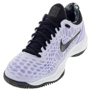 Women`s Zoom Cage 3 Tennis Shoes Purple Agate and Black