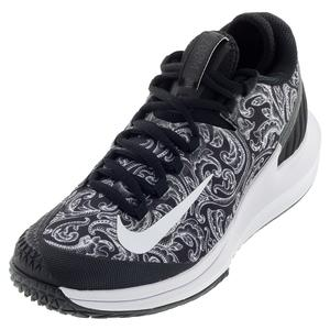 Women`s Court Air Zoom Zero Tennis Shoes Black and White