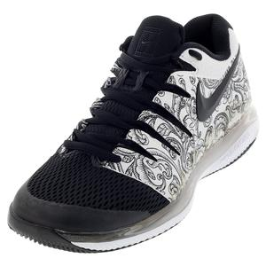 Women`s Air Zoom Vapor X Tennis Shoes White and Black