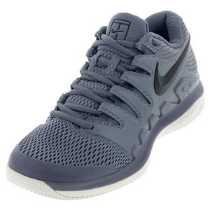 Women`s Air Zoom Vapor X Tennis Shoes Metallic Blue Dusk and Black