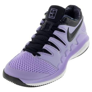 Women`s Air Zoom Vapor X Tennis Shoes Purple Agate and Black