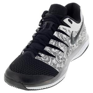 Men`s Air Zoom Vapor X Tennis Shoes White and Black