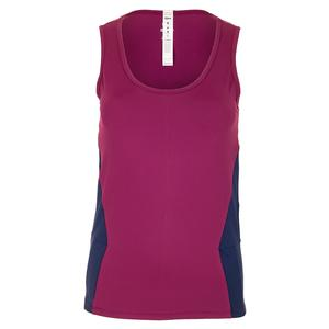 Women`s Quartz Tennis Tank Burgundy and Navy