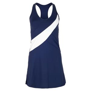 Women`s Empress Tennis Dress Navy and White