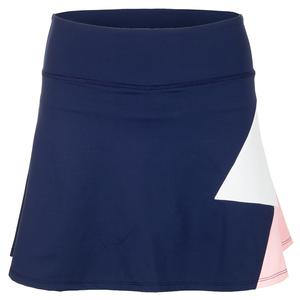 Women`s Pearl Tennis Skort Navy and White
