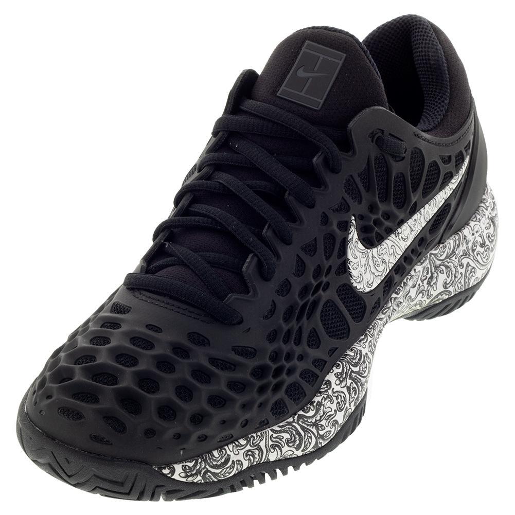 info for c64f7 4d5bb Nike Women s Zoom Cage 3 Tennis Shoes Black and White