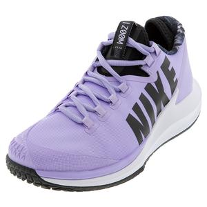 Women`s Court Air Zoom Zero Tennis Shoes Purple Agate and Black