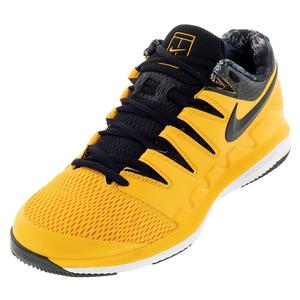 Men`s Air Zoom Vapor X Tennis Shoes University Gold and Black