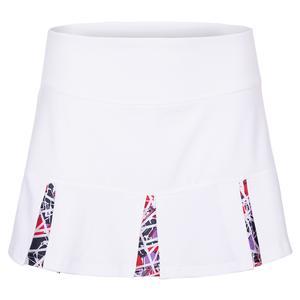 Women`s Stained Glass 13 Inch Tennis Skort White