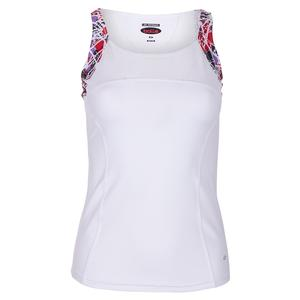 Women`s Stained Glass Tennis Tank White