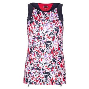 Women`s Stained Glass Tennis Tank Print