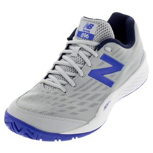 Men`s 896v2 D Width Tennis Shoes Light Aluminum and UV Blue