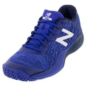 Men`s 996v3 D Width Clay Tennis Shoes UV Blue and Pigment