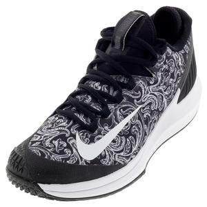 Men`s Court Air Zoom Zero Tennis Shoes Black and White