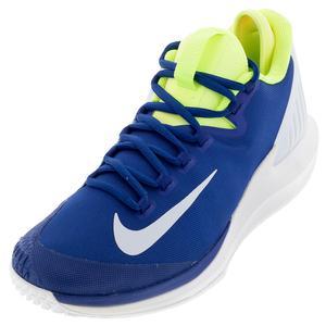 Men`s Court Air Zoom Zero Tennis Shoes Indigo Force and White