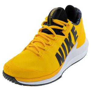 Men`s Court Air Zoom Zero Tennis Shoes University Gold and Black