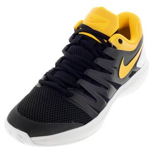 Men`s Air Zoom Prestige Tennis Shoes Black and University Gold