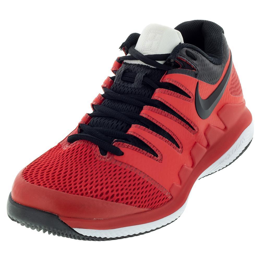 Juniors ` Air Zoom Vapor X Tennis Shoes University Red And Black