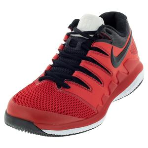 Juniors` Air Zoom Vapor X Tennis Shoes University Red and Black