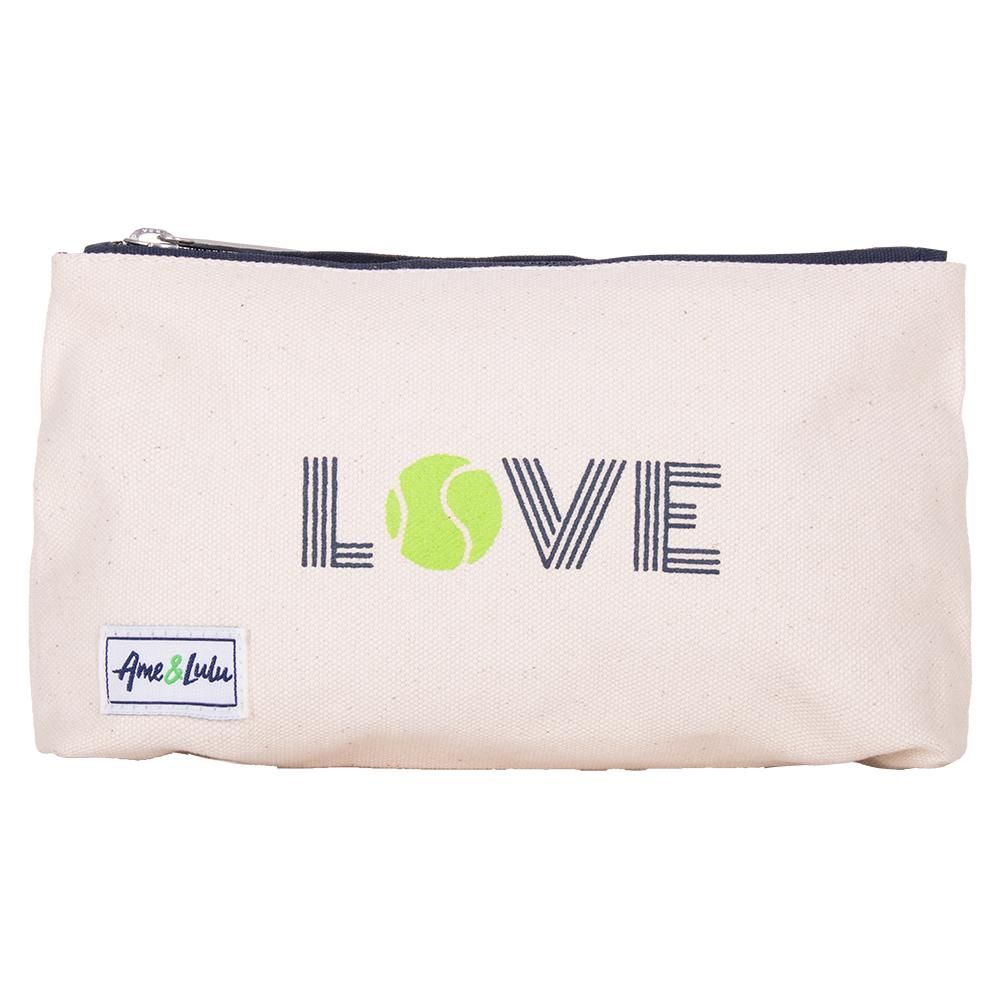 Women's Icon Brush It Off Tennis Cosmetic Case Green Love