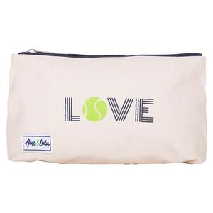Women`s Icon Brush It Off Tennis Cosmetic Case Green Love
