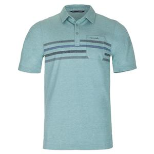 Men`s Oh Snap Tennis Polo Heather Beryl Green