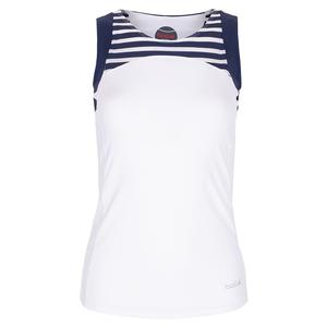 Women`s Admiralty Tennis Tank White and Print