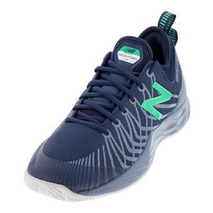 Men`s Fresh Foam Lav 2E Width Tennis Shoes Neutral Blue and Gray