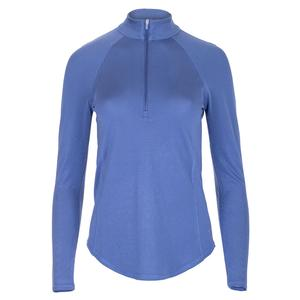 Women`s Long Sleeve Mock Tennis Top Indigo
