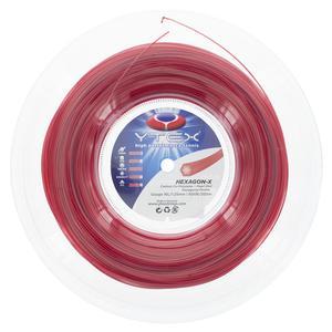 Hexagon-X 16L/1.25MM Tennis String Reel Pearl Red