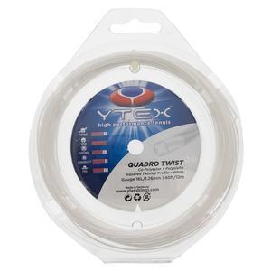 Quadro Twist 16L/1.26MM Tennis String White