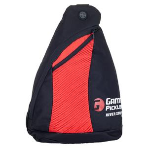 Pickleball Sling Bag Black and Red