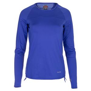Women`s Wisteria Long Sleeve Tennis Top Blue Water