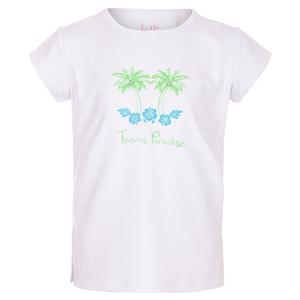Girls` Paradise Bling Tennis Top White