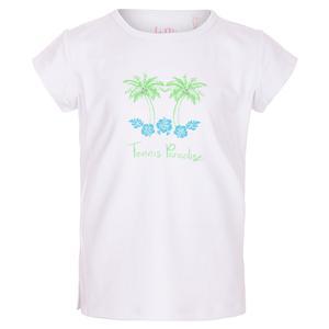 Girls` Paradise Bling Tennis Top White