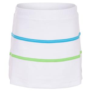 Girls` Stripe Tennis Skort White