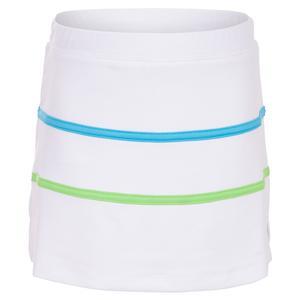 Girls` Stripe Tennis Skort White