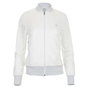 Women`s Flash Forward Bomber Tennis Jacket White