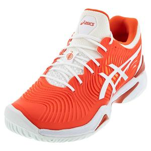 Men`s Court FF Novak Tennis Shoes Cherry Tomato and White