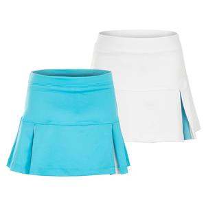 Girls` Peekaboo Pleat Tennis Skort