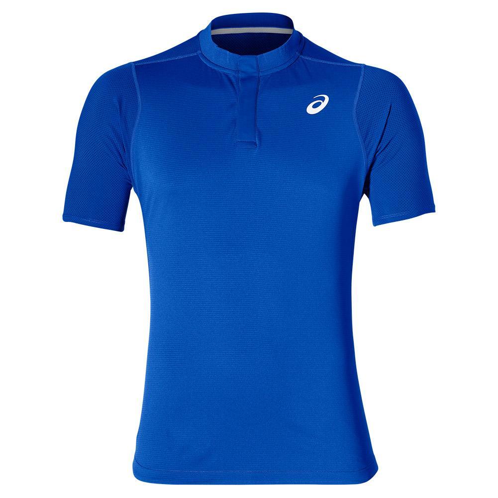 e34be8522c Details about ASICS Men`s Gel-Cool Tennis Polo Illusion Blue