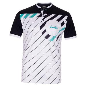 Men`s Short Sleeve Tennis Polo Optical White