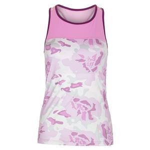 Women`s Sabre Tennis Tank Floral Camo and Acid Orchid