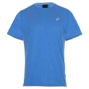 Men`s Short Sleeve Performance Running Top Illusion Blue
