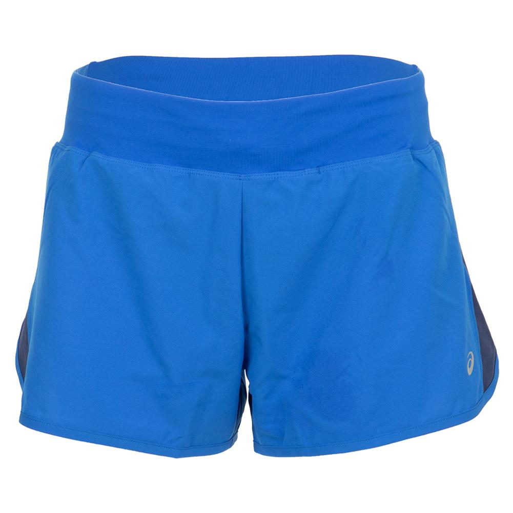 Women's 3 Inch Running Short Illusion Blue And Indigo