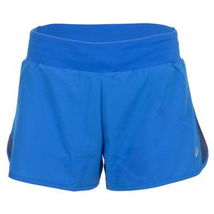 Women`s 3 Inch Running Short Illusion Blue and Indigo